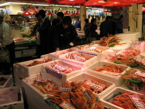 冬の近江町市場